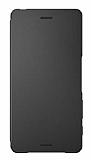 Sony Xperia X SCR52 Orjinal Uyku Modlu Flip Cover Siyah Kılıf