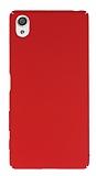 Sony Xperia X Tam Kenar Koruma Kırmızı Rubber Kılıf