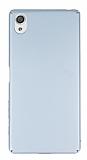 Sony Xperia X Tam Kenar Koruma Silver Rubber Kılıf