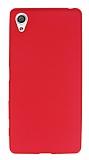 Sony Xperia XA Mat Kırmızı Silikon Kılıf