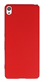 Sony Xperia XA Tam Kenar Koruma Kırmızı Rubber Kılıf