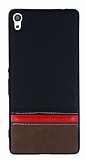 Sony Xperia XA Ultra Çift Renk Siyah Silikon Kılıf