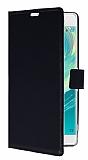 Sony Xperia XA Ultra Cüzdanlı Yan Kapaklı Siyah Deri Kılıf