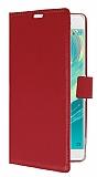 Sony Xperia XA Ultra Cüzdanlı Yan Kapaklı Kırmızı Deri Kılıf