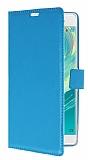 Sony Xperia XA Ultra Cüzdanlı Yan Kapaklı Mavi Deri Kılıf