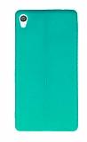 Sony Xperia XA Ultra Deri Desenli Süper İnce Yeşil Silikon Kılıf