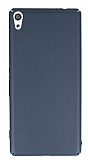 Sony Xperia XA Ultra Tam Kenar Koruma Dark Silver Rubber Kılıf