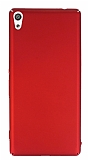 Sony Xperia XA Ultra Tam Kenar Koruma Kırmızı Rubber Kılıf