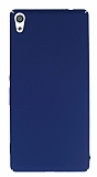 Sony Xperia XA Ultra Tam Kenar Koruma Lacivert Rubber Kılıf