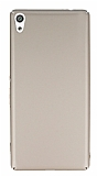 Sony Xperia XA Ultra Tam Kenar Koruma Gold Rubber Kılıf