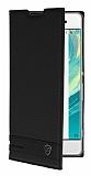 Sony Xperia XA1 Gizli Mıknatıslı Siyah Deri Kılıf