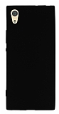 Sony Xperia XA1 Mat Siyah Silikon Kılıf