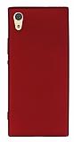 Sony Xperia XA1 Mat Kırmızı Silikon Kılıf