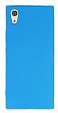 Sony Xperia XA1 Mat Mavi Silikon Kılıf
