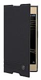 Sony Xperia XA1 Plus Gizli Mıknatıslı Yan Kapaklı Deri Kılıf