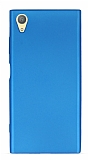 Sony Xperia XA1 Plus Mat Mavi Silikon Kılıf