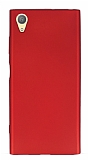 Sony Xperia XA1 Plus Mat Kırmızı Silikon Kılıf