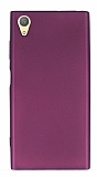Sony Xperia XA1 Plus Mat Mor Silikon Kılıf