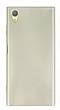 Sony Xperia XA1 Plus Mat Gold Silikon Kılıf