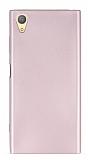 Sony Xperia XA1 Plus Mat Rose Gold Silikon Kılıf