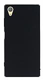 Sony Xperia XA1 Plus Tam Kenar Koruma Siyah Rubber Kılıf