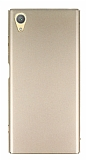 Sony Xperia XA1 Plus Tam Kenar Koruma Gold Rubber Kılıf