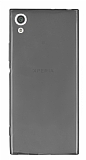 Sony Xperia XA1 Süper İnce Şeffaf Siyah Silikon Kılıf