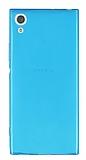 Sony Xperia XA1 Süper İnce Şeffaf Mavi Silikon Kılıf