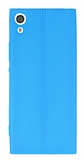 Sony Xperia XA1 Ultra Deri Desenli Ultra İnce Mavi Silikon Kılıf