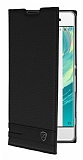 Sony Xperia XA1 Ultra Gizli Mıknatıslı Siyah Deri Kılıf