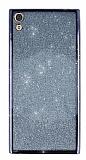 Sony Xperia XA1 Ultra Simli Siyah Silikon Kılıf