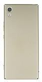 Sony Xperia XA1 Ultra Tam Kenar Koruma Gold Rubber Kılıf