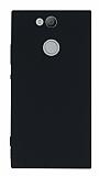 Sony Xperia XA2 Mat Siyah Silikon Kılıf
