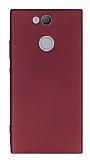 Sony Xperia XA2 Mat Mürdüm Silikon Kılıf