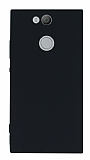 Sony Xperia XA2 Ultra Mat Siyah Silikon Kılıf