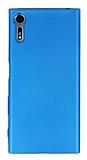 Sony Xperia XZ Mat Mavi Silikon Kılıf