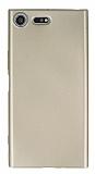Sony Xperia XZ Premium İnce Mat Gold Silikon Kılıf