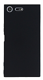 Sony Xperia XZ Premium İnce Mat Siyah Silikon Kılıf
