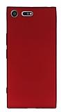 Sony Xperia XZ Premium Mat Kırmızı Silikon Kılıf