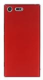 Sony Xperia XZ Premium Tam Kenar Koruma Kırmızı Rubber Kılıf