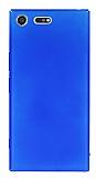 Sony Xperia XZ Premium Tam Kenar Koruma Lacivert Rubber Kılıf