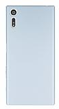 Sony Xperia XZ Tam Kenar Koruma Silver Rubber Kılıf