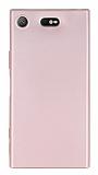 Sony Xperia XZ1 Compact Mat Rose Gold Silikon Kılıf