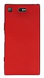 Sony Xperia XZ1 Compact Mat Kırmızı Silikon Kılıf