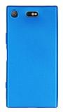 Sony Xperia XZ1 Compact Mat Mavi Silikon Kılıf