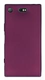 Sony Xperia XZ1 Compact Mat Mor Silikon Kılıf