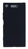 Sony Xperia XZ1 Mat Siyah Silikon Kılıf