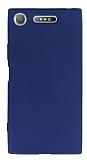 Sony Xperia XZ1 Mat Koyu Lacivert Silikon Kılıf