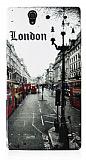 Sony Xperia Z London Street Silikon K�l�f