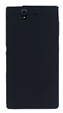 Sony Xperia Z Mat Siyah Silikon Kılıf